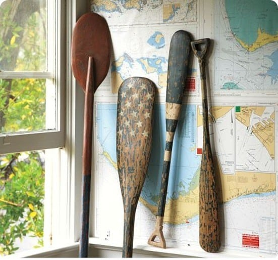Painted Wood Oars