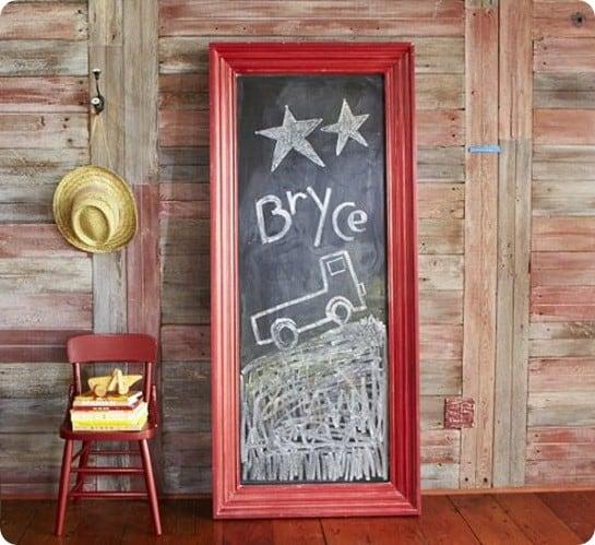 jumbo framed chalkboard