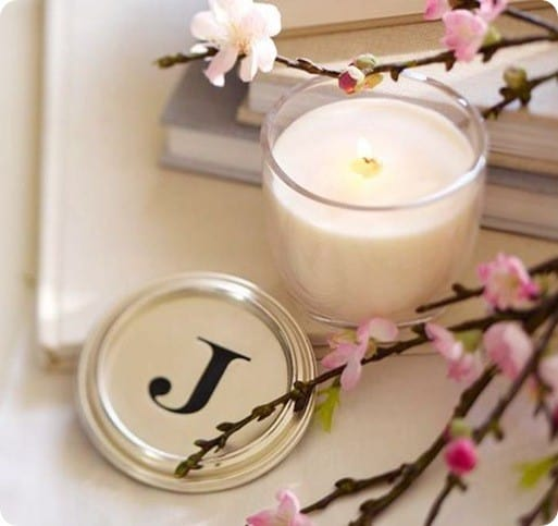 Monogram Candle Pot