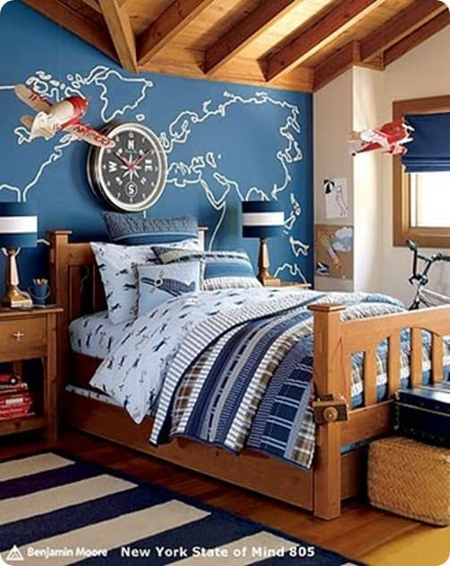 PB Kids Airplane Bedroom