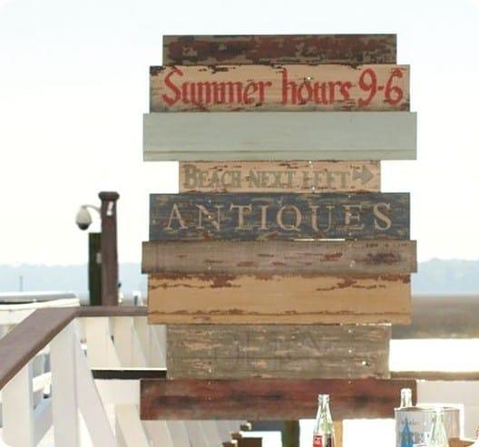 Planked Summer Sign