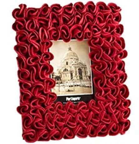 Red Felt Roses Frame