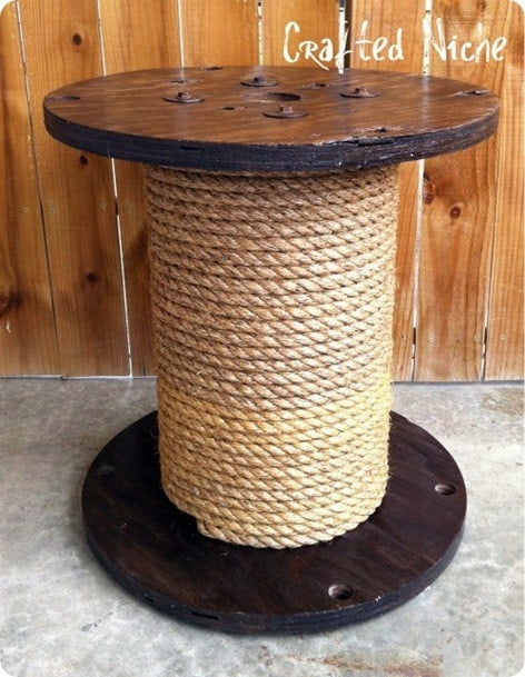 Rope Spool Side Table