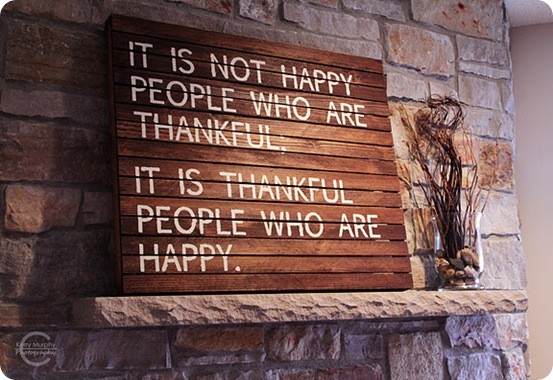 Slatted Thankfulness Sign