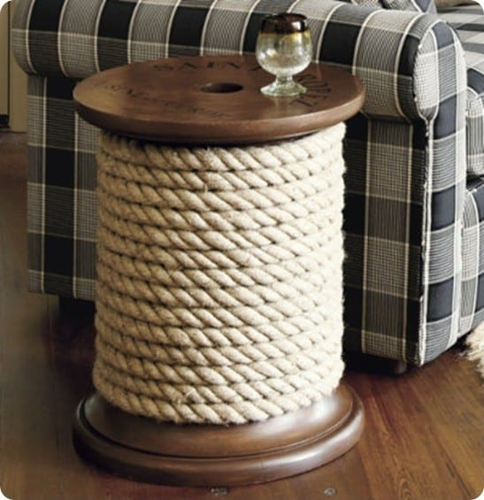 Spool Side Table