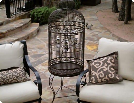 Standing Birdcage Chandelier