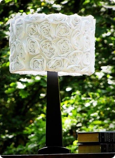 fabric flower lampshade. Black Bedroom Furniture Sets. Home Design Ideas
