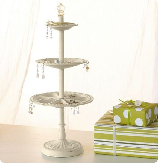 Tiered Ceramic Jewelry Holder