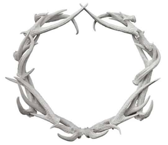 cast resin antler wreath