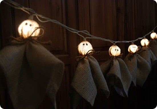 Burlap ghost light strand - Guirlande halloween a faire soi meme ...