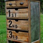 Numbered Wood Dresser
