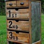 Numbered Wood Dresser