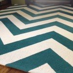 Handpainted Chevron Rug