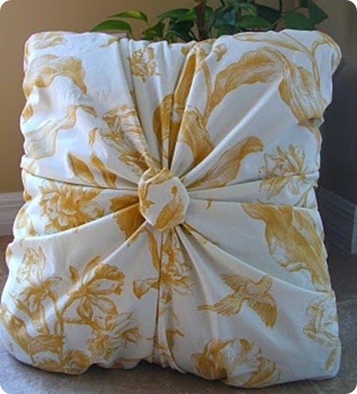Gathered Throw Pillow