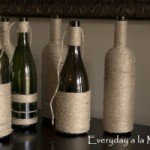 Jute Wrapped Wine Bottles
