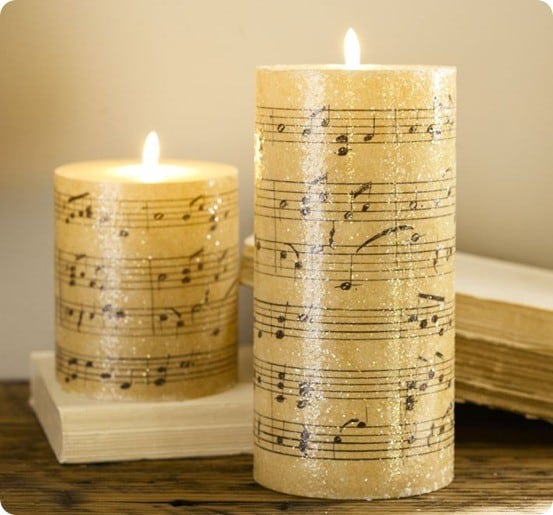 Music Pillar Candle