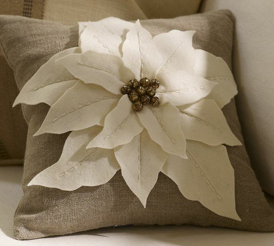 Poinsetta Decorative Pillow
