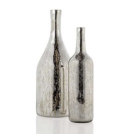 Silver Leaf Wine Bottle Knockoffdecor Com