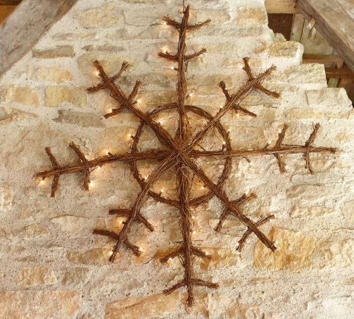 lit twig snowflake