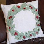 Christmas Wreath Pillows