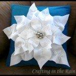 Poinsettia Christmas Pillow