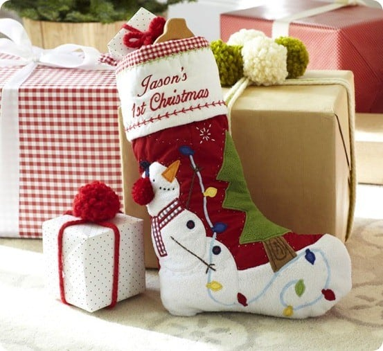 Baby's First Christmas Quilted Stocking