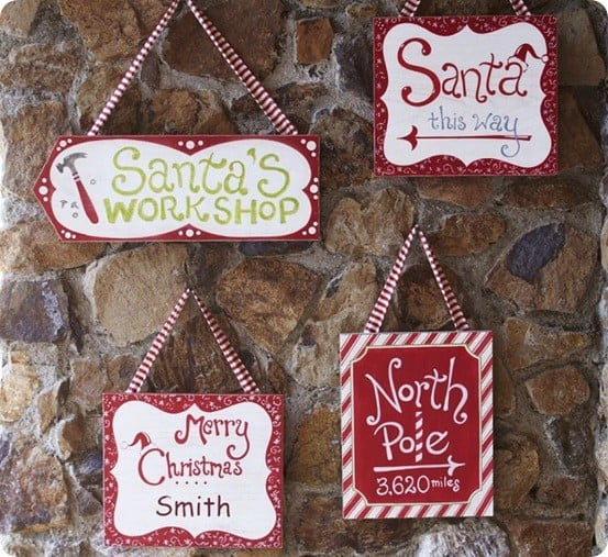 North Pole Hanging Sign