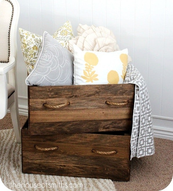 Planked Wood Boxes
