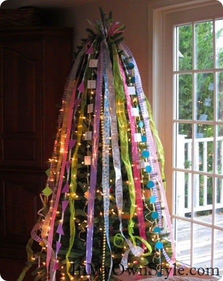 ribbon christmas tree topper. Black Bedroom Furniture Sets. Home Design Ideas