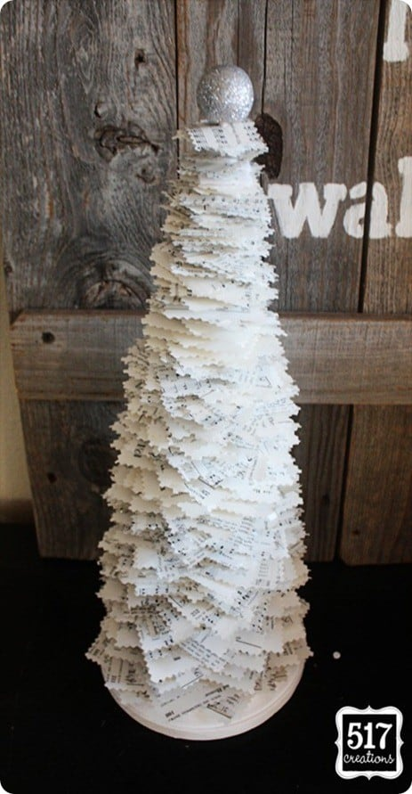 Sheet Music Christmas Tree