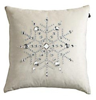 Velvet Snowflake Pillow