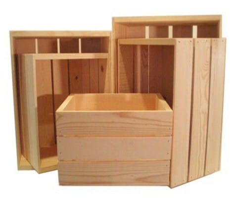 Wooden Crate Box Set of 5