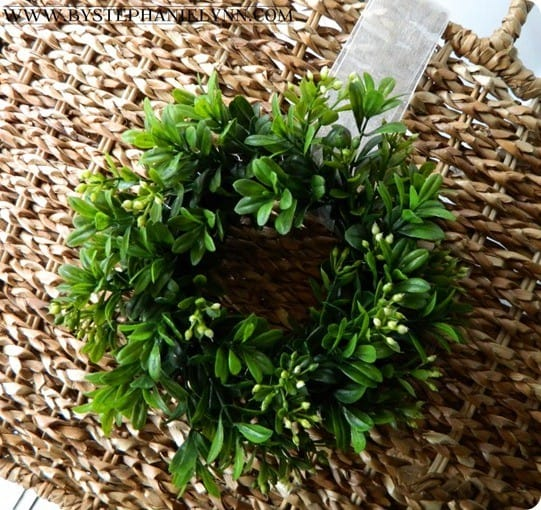 diy mini boxwood wreath