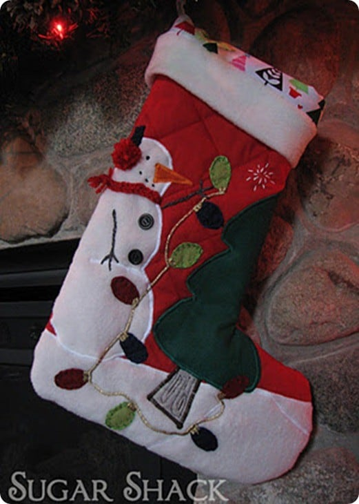 diy quilted stocking