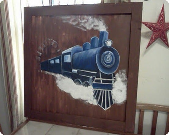 Canvas Train Painting