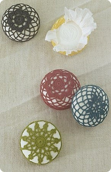 anthro crochet soaps