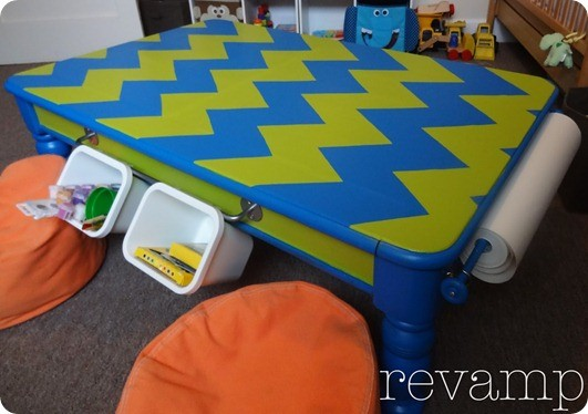 coffee table to kids activity table