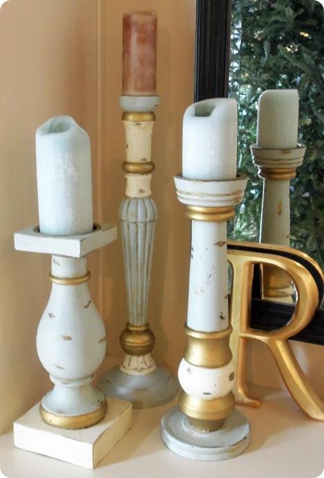 distressed candlesticks