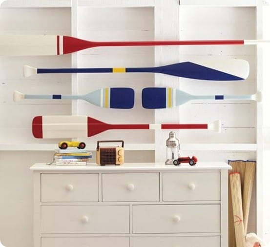 Nautical Wall Decor Oars: Painted Oar Décor