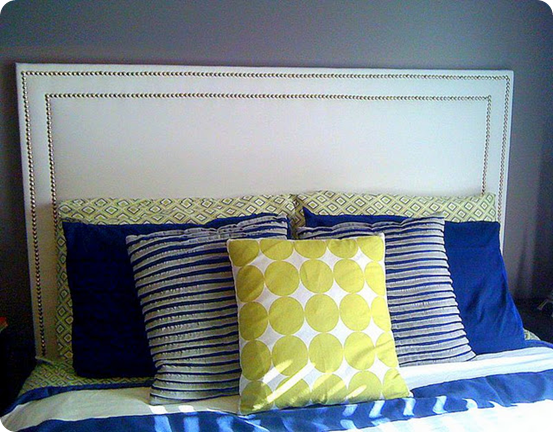 rectangular nailhead trim headboard