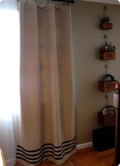 ribbon stripe curtains