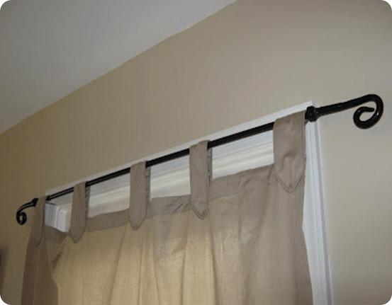 diy iron curtain rod