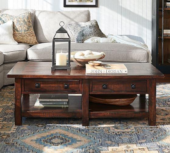 Build Your Own Coffee Table With Storage: Rustic Wood Coffee Table