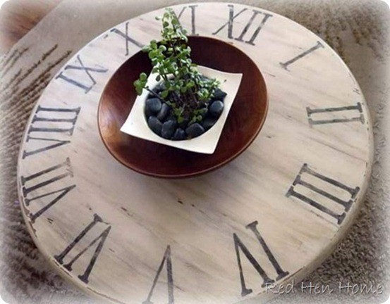 pottery barn inspired clock table