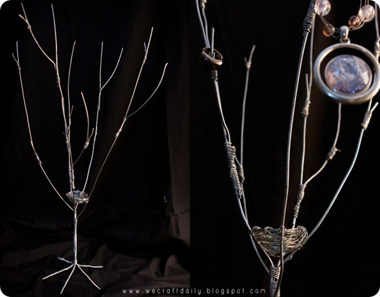 wire jewelry tree
