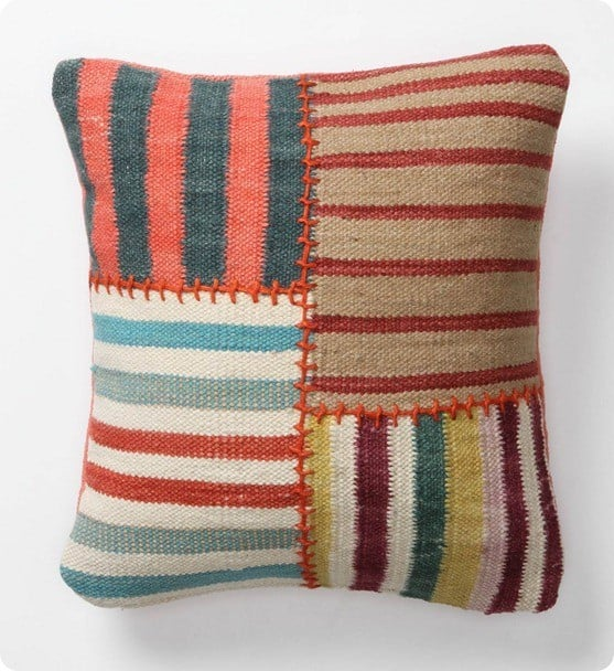 Banded Dhurrie Pillow