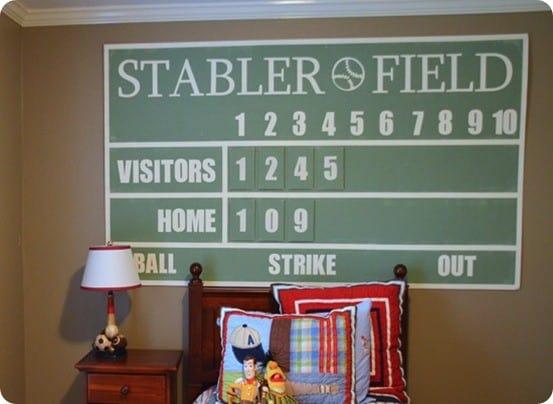 Basbeall Scoreboard Art