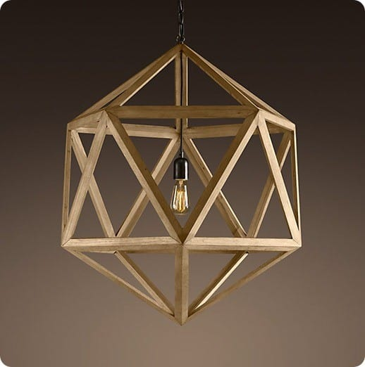 Wood Polyhedron Pendant