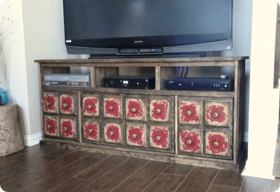 apothecary tv stand