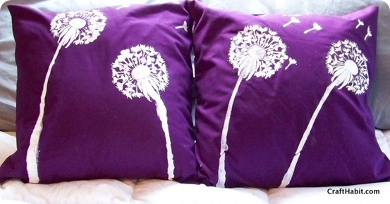 dandelion pillows